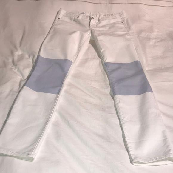 "GAP Denim - Gap white jeans with light blue ""patch"" knees"